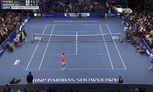 Григор Димитров даде ракетата си на дете, което игра срещу Роджър Федерер!!!
