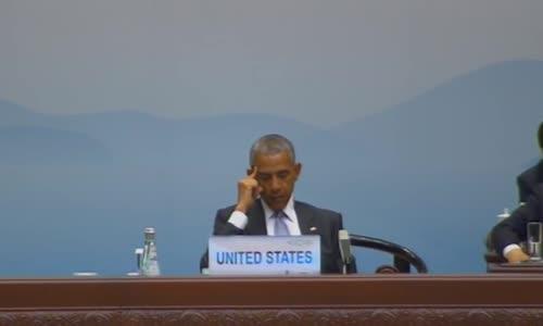 Обама заспа на откриването на срещата на Г-20!!!