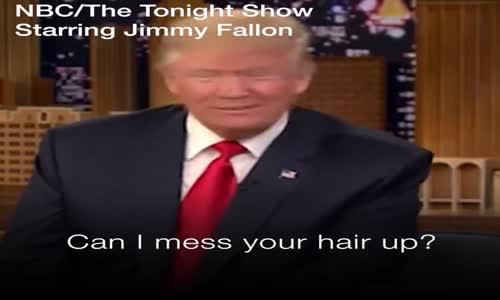Водещ разроши косата на Доналд Тръмп!-Истинска е ! Доналд Тръмп доказа, че не носи перука